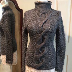 Moda International Chunky Gray Turtleneck Sweater
